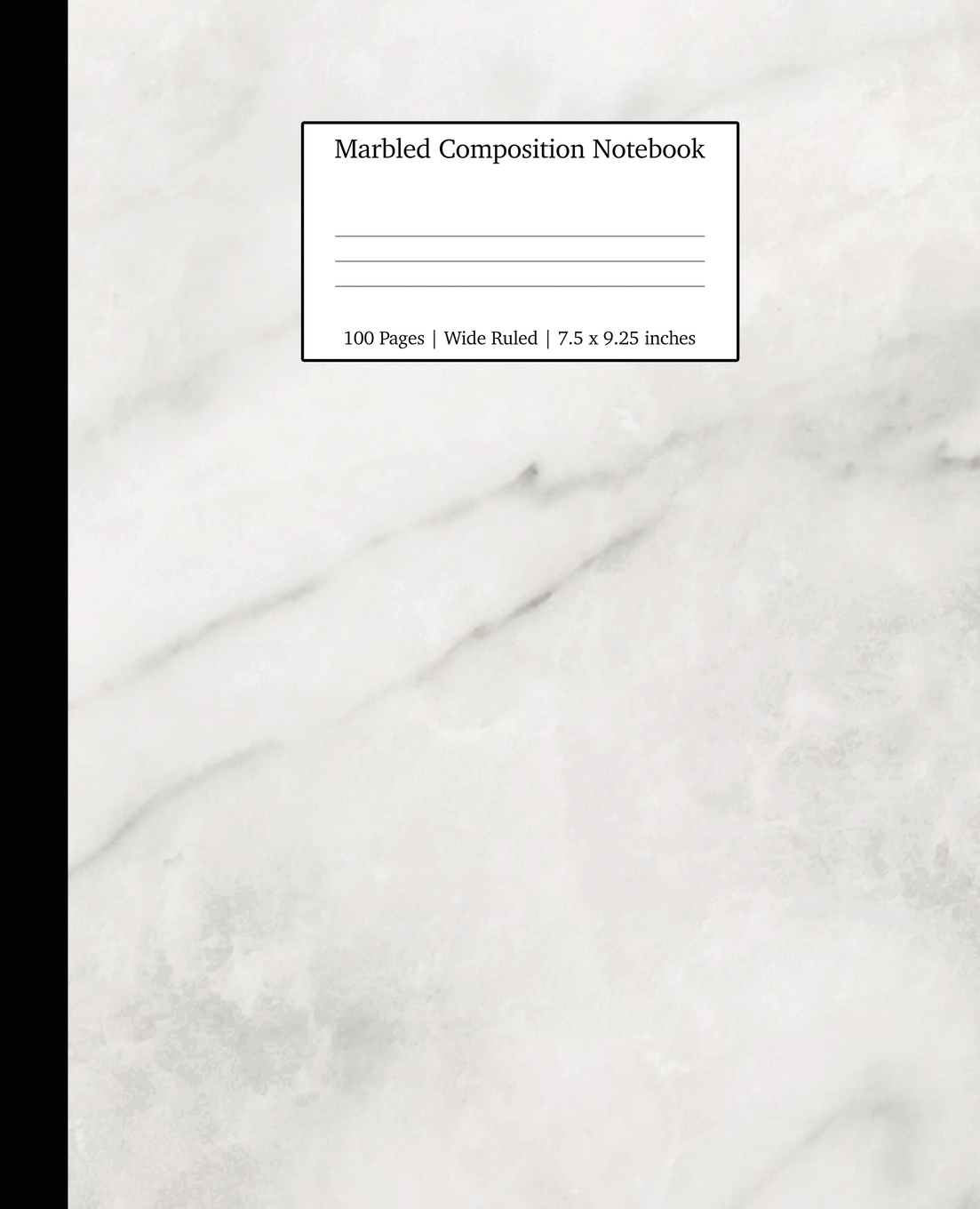Фото - Young Dreamers Press Marbled Composition Notebook. White Marble Paper . Wide Ruled Notebook/Journal Paper beibehang jazz white marble stickers waterproof thickened kitchen oil bathroom tiles stickers self adhesive wall paper