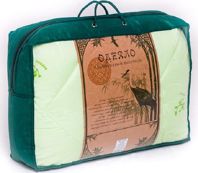 Одеяло ТК Традиция бамбук 300 г 140х205 см, полиэстер, 1,5 сп. одеяла пиллоу одеяло халлофайбер эко очень теплое 140х205 см