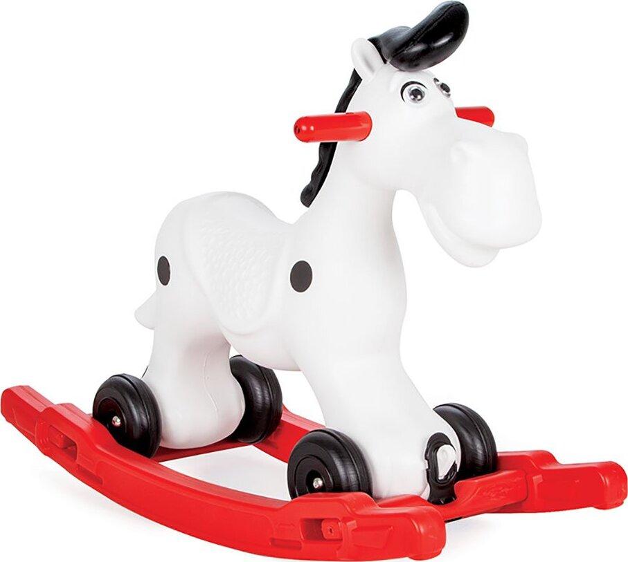Качалка Лошадка со съемным поддоном и колесиками Pilsan Lucky Horse