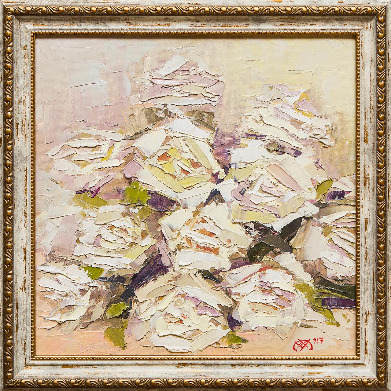 Картина маслом Из серии Открытка, Натюморт Черная картина маслом соперники ефименко
