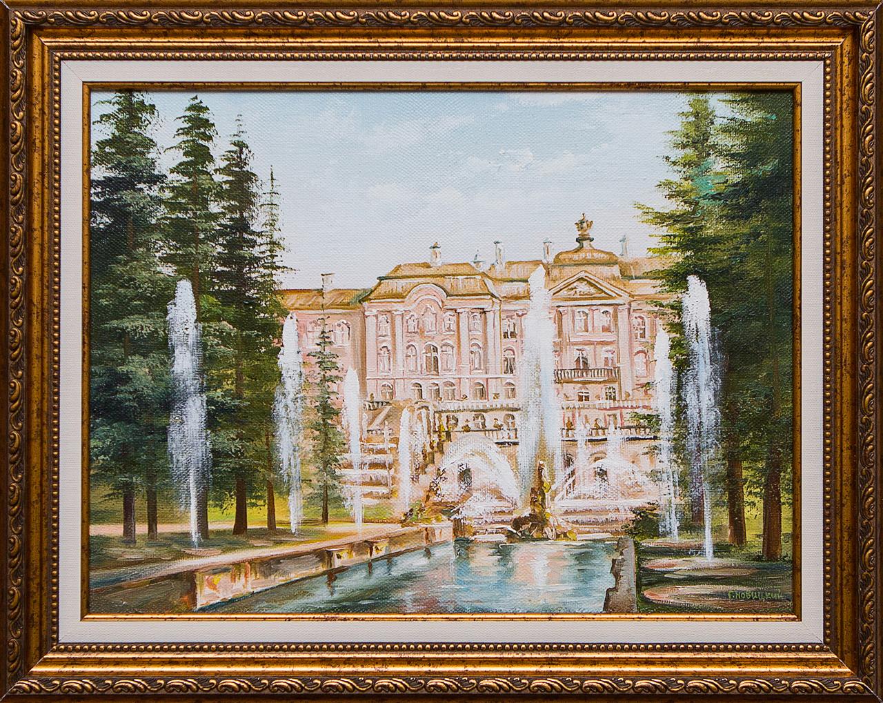 Картина маслом Петергоф Новицкий картина маслом вид на троицкий собор новицкий