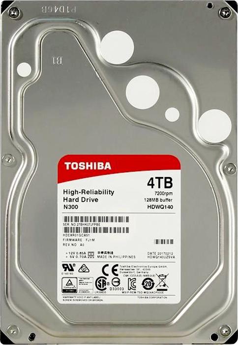 Жесткий диск 4Tb SATA-III Toshiba N300, HDWQ140UZSVA жесткий диск toshiba dt01aca100