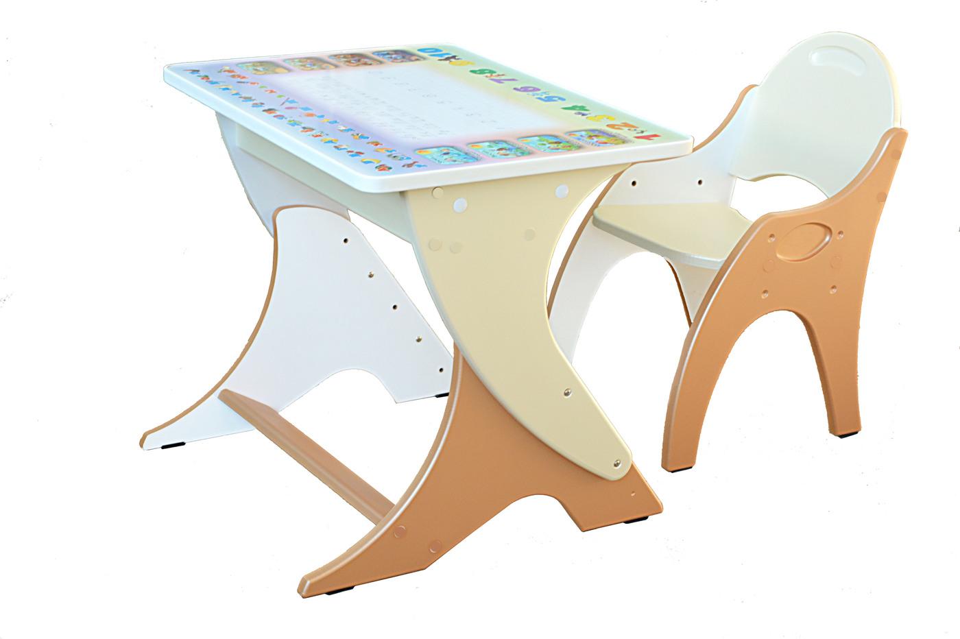 Набор детской мебели РЕГУЛИРУЕМЫЙ Буквы-Цифры