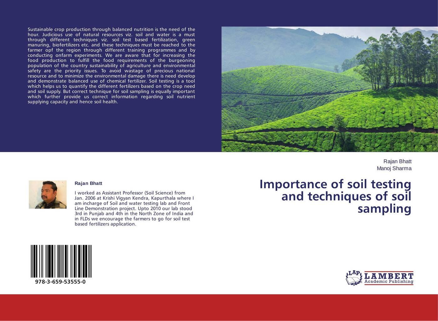 цена Rajan Bhatt and Manoj Sharma Importance of soil testing and techniques of soil sampling
