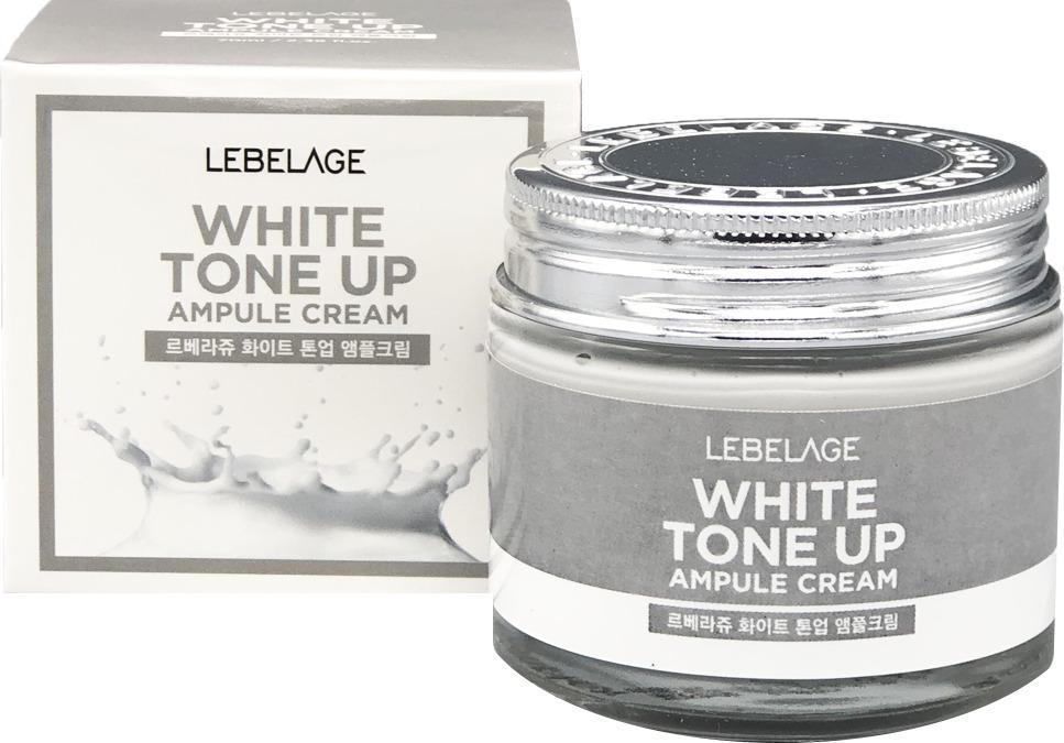 LEBELAGE WHITE TONEАмпульный крем для лица с молочными протеинами, 70 мл Lebelage
