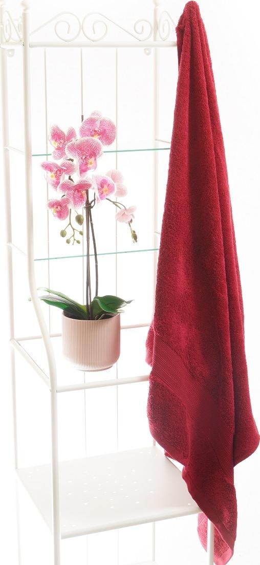 grace ТТ-9101-06-660 Полотенце махровое банное красное, 100% хлопок, 100 х 150
