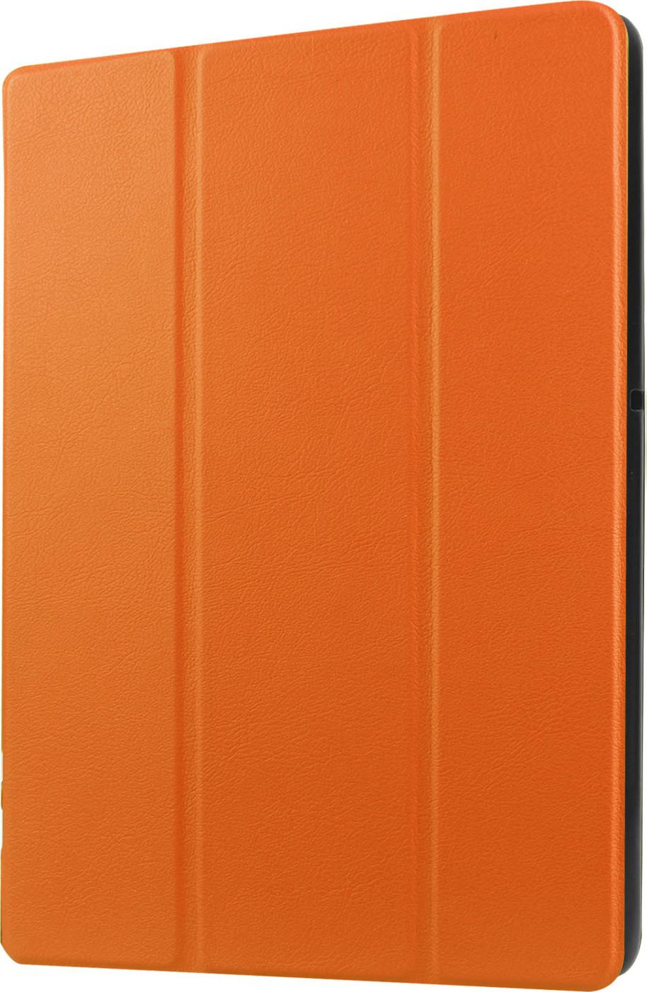 Чехол-обложка MyPads для LG G Pad 2 8.0 (V498) тонкий умный кожаный на пластиковой основе с трансформацией в подставку оранжевый