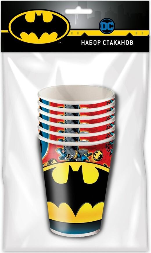 Batman. Набор бумажных стаканов, 6 шт, 250 мл