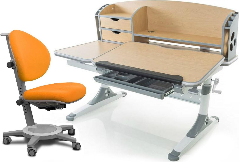 Комплект Mealux Парта Aivengo - L с креслом Cambridge и прозрачной накладкой на парту 65х45