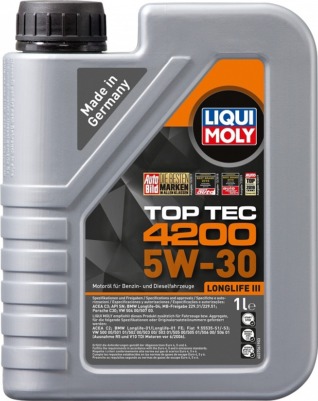 LIQUI MOLY Масло моторное Top Tec 4200 5W-30  1L