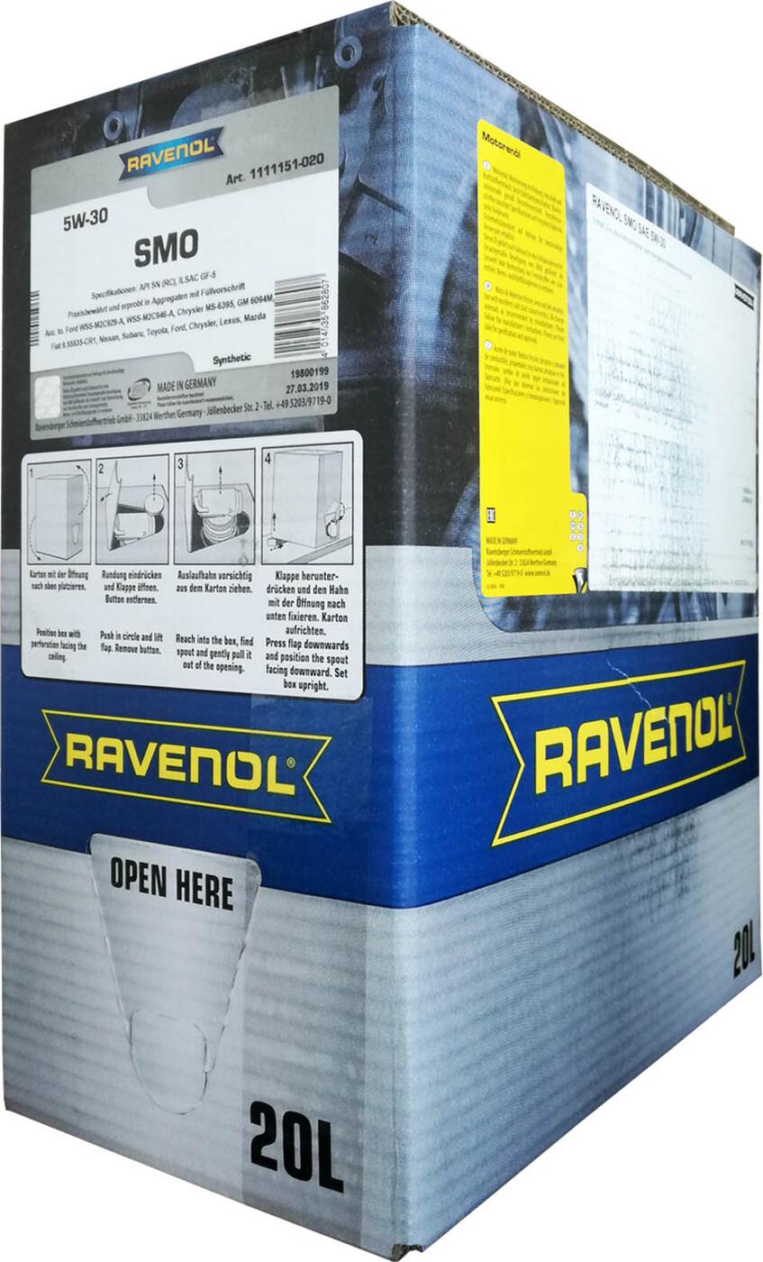 Моторное масло RAVENOL SMO SAE 5W-30 (20л) ecobox