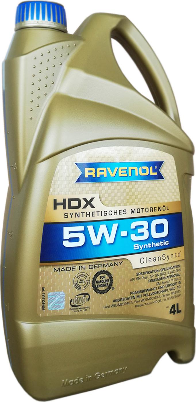 Моторное масло RAVENOL HDX SAE 5W-30 (4л)
