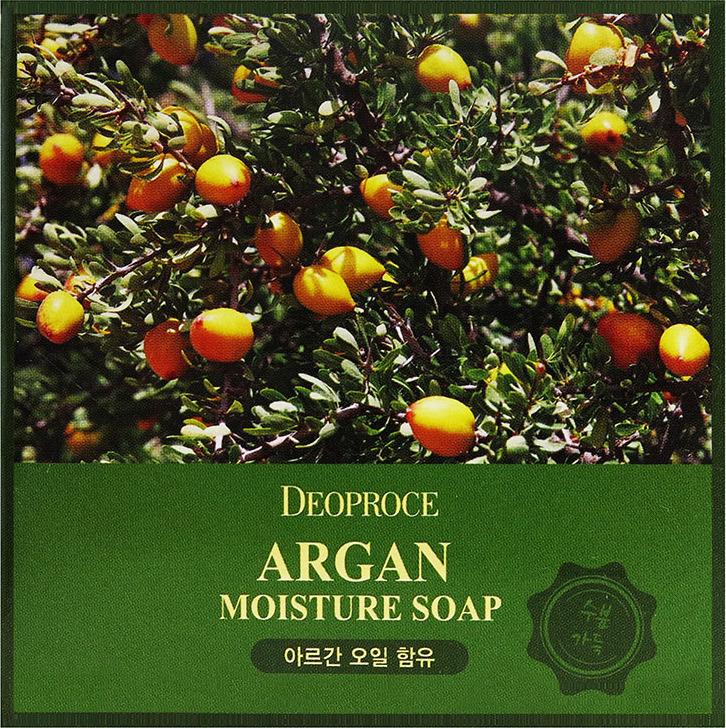 Мыло с аргановым маслом Deoproce Argan Moisture Soap 100 г.  Deoproce