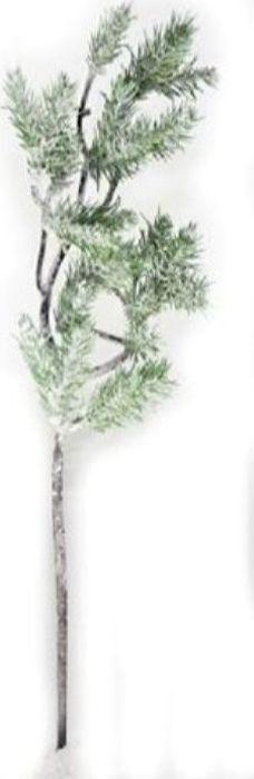 Ветка декоративная новогодняя, DN-51420, зеленый, высота 40 см