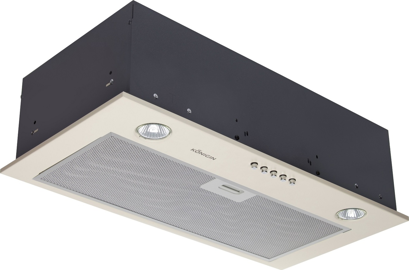 Кухонная вытяжка Konigin Inbox Plus (Ivory 60) Практичный современный дизайн Яркое галогеновое освещение Круглые...