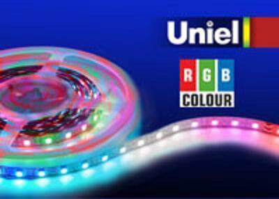 Светодиодная лента Uniel ULS-5050-60LED/m-10mm-IP20-DC24V-14,4W/m-5M-RGB