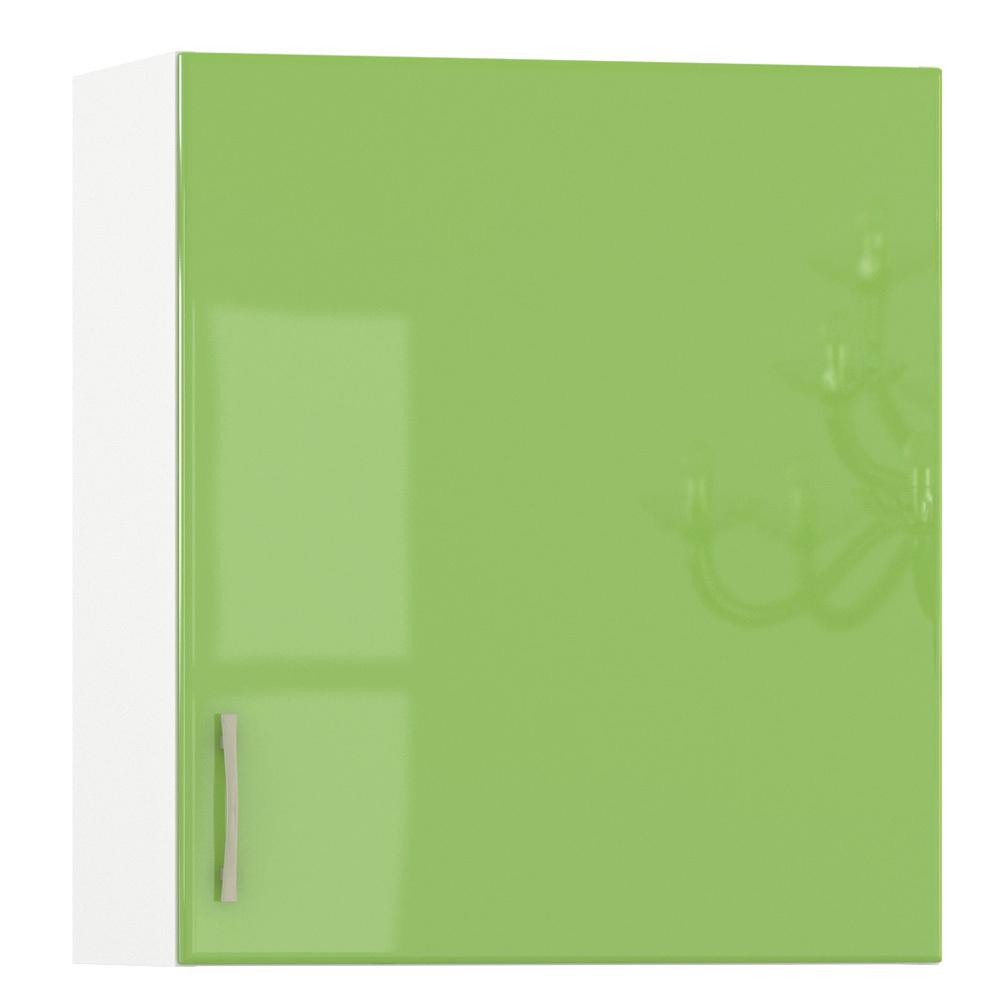 Кухня Сандра эвкалипт глянец/белый Шкаф навесной 600 1 дверь, ШхГхВ 60х32х68 см., универсальная дверь, можно сушку установить