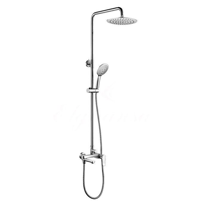 Душевая система Elghansa 2305599-2L (Set-11) однорычажная с ABS верхним душем 225 мм