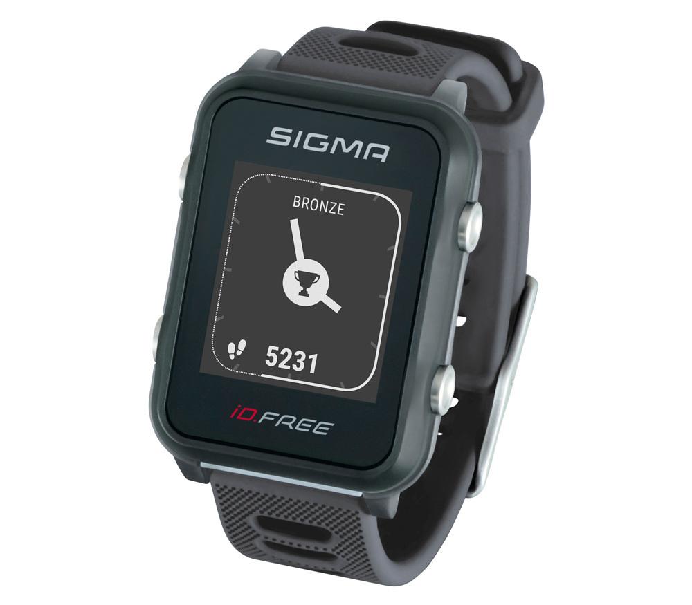 Мультиспортивные часы SIGMA ID.FREE GRAY 24100, черн./сер., часы c GPS,