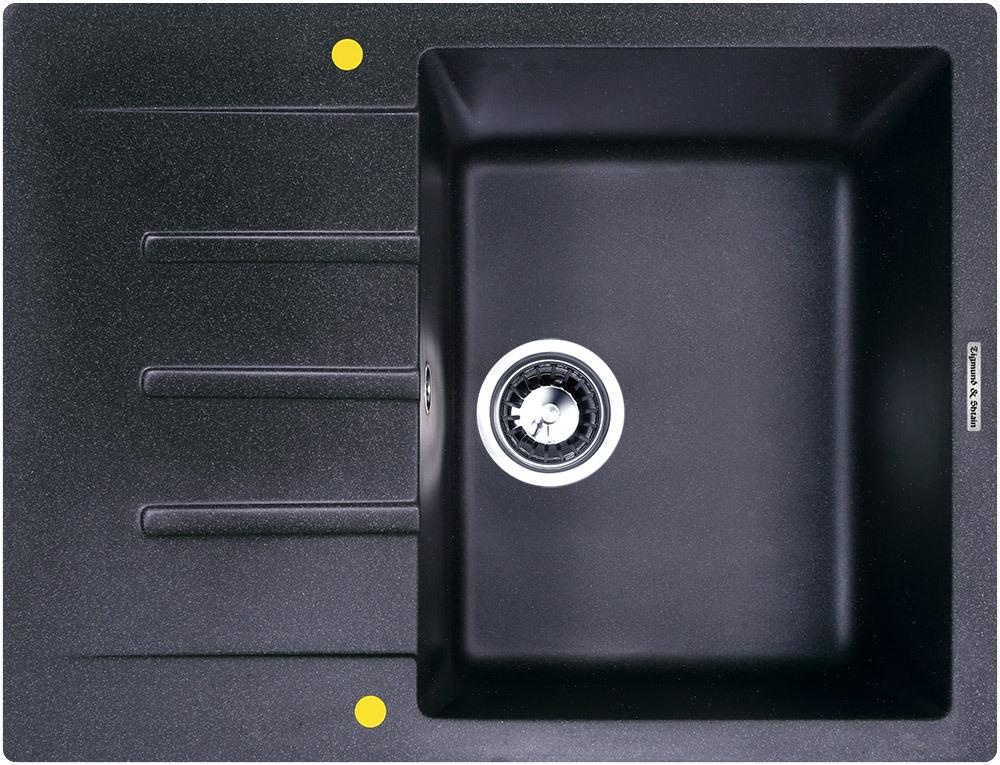 Кухонная мойка Zigmund & Shtain RECHTECK 645 Тёмная скала