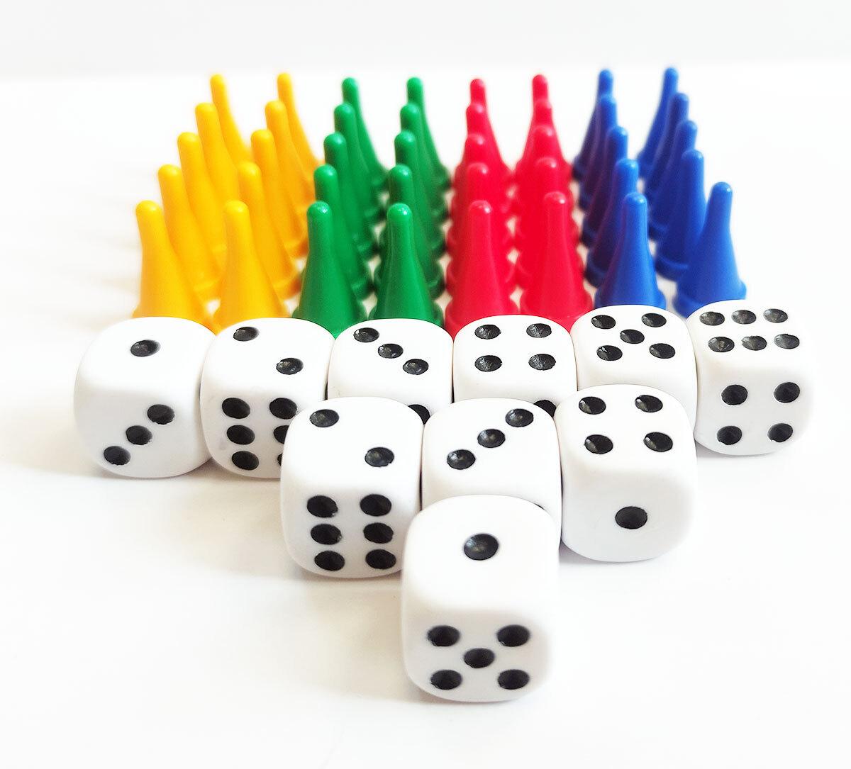 Набор фишек конус и кубиков для настольных игр