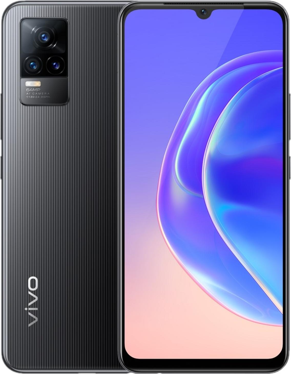 смартфон vivo v21e 8/128gb, черный