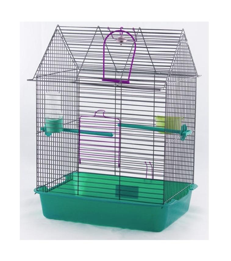 """клетка для птиц вака """"фантазия-1"""" с жердочкой и поилкой, 385 х 275 х 515 мм"""