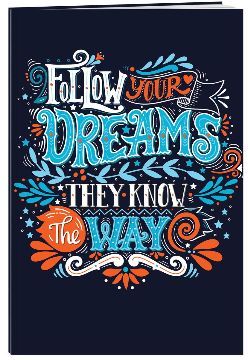 (2019)Follow your dreams (леттеринг). Тетрадь общая (А5, 48 л., накидки, клетка-стандарт) | Нет автора #1