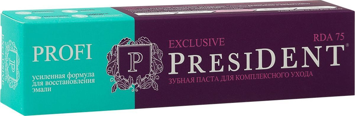 Зубная паста President Profi Exclusive, 75 RDA #1