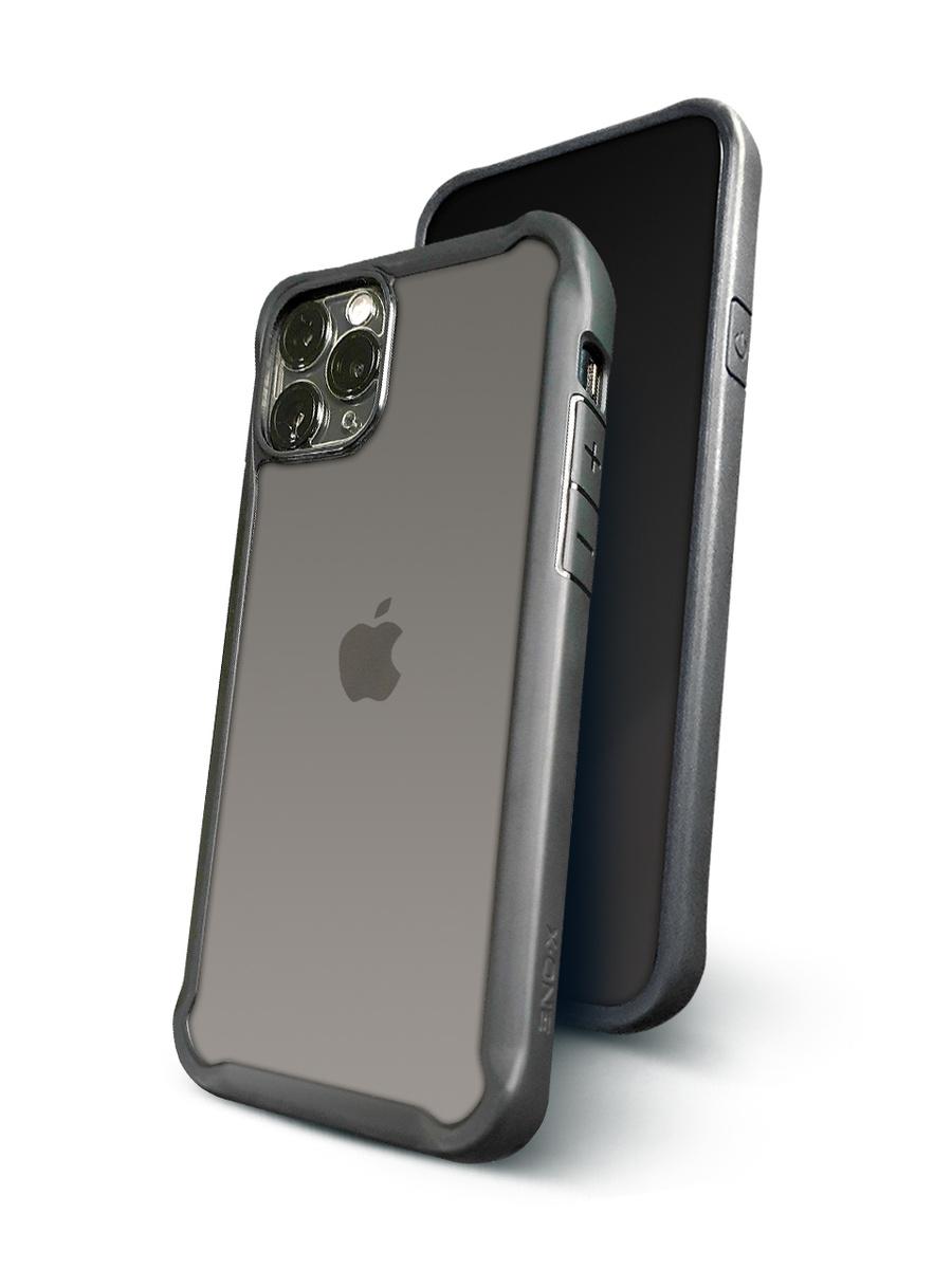 Чехол для iPhone 11 Pro X-ONE DropGuard 2.0 Прозрачный с черным матовым бампером Противоударный  #1