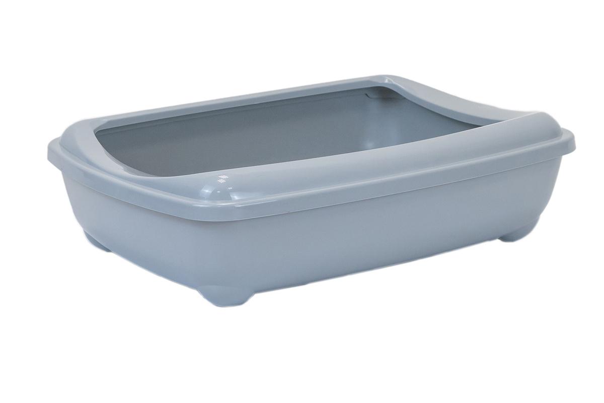 Туалет для кошек PetTails глубокий, большой (под наполнитель) 50*38*13см, серый  #1