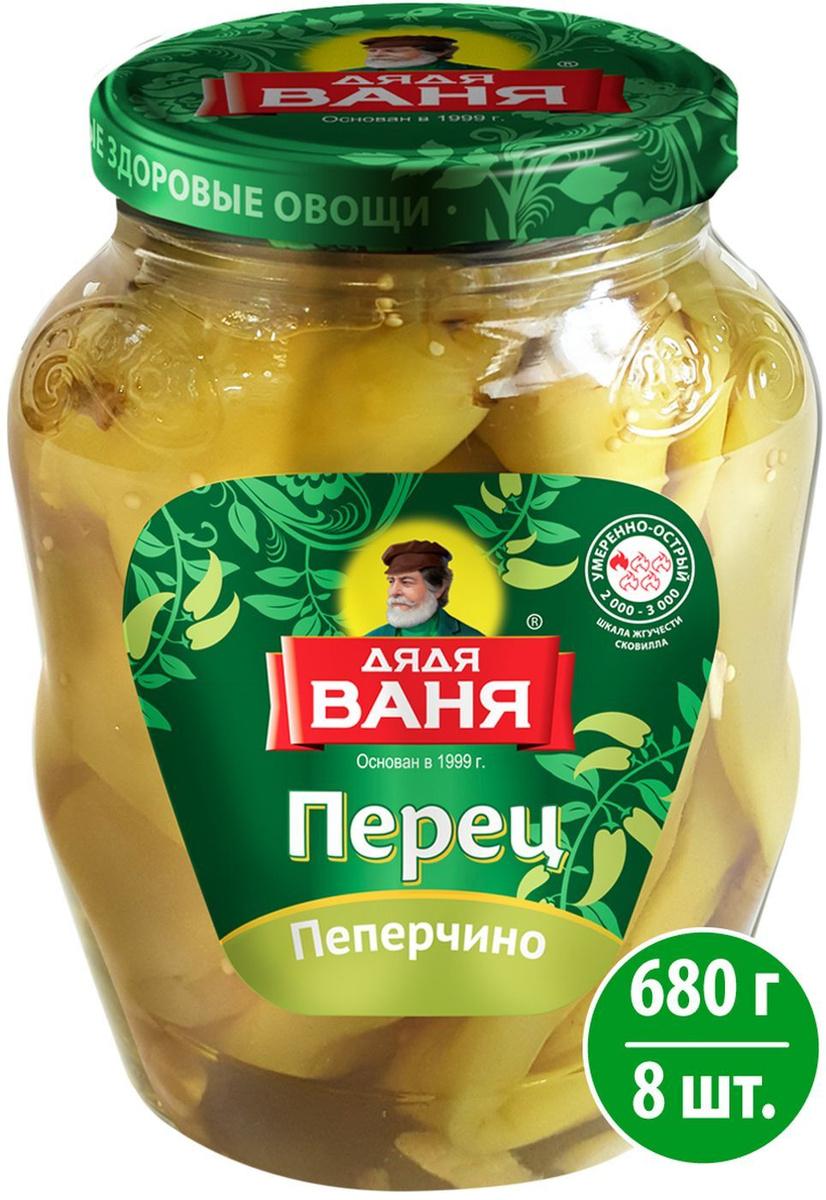 Овощные консервы Дядя Ваня Перец маринованный Пеперчино, 8 шт по 680 г  #1