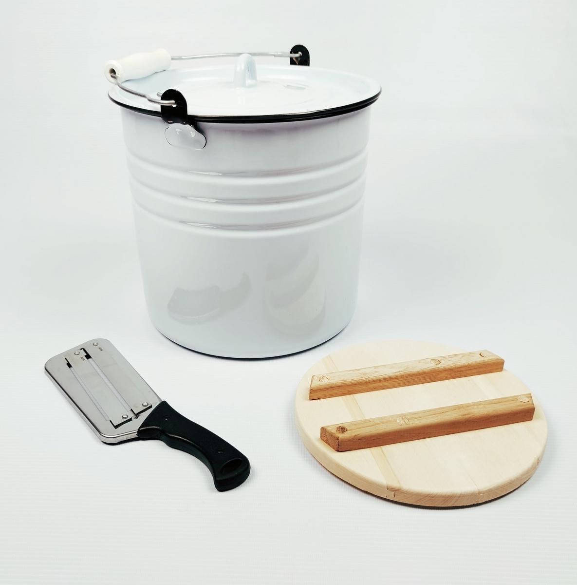 Кадка для засолки Лысьвенские эмали, Эмалированная сталь, 12 л  #1