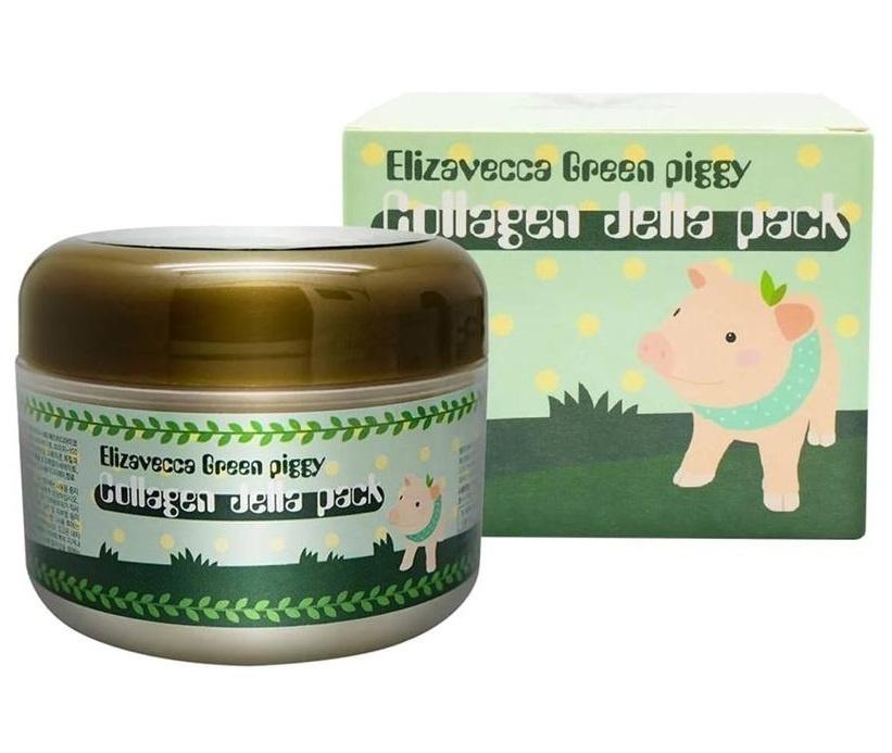 Elizavecca Маска для лица коллагеновая с лифтинг эффектом Green Piggy Collagen Jella Pack, 100 мл  #1