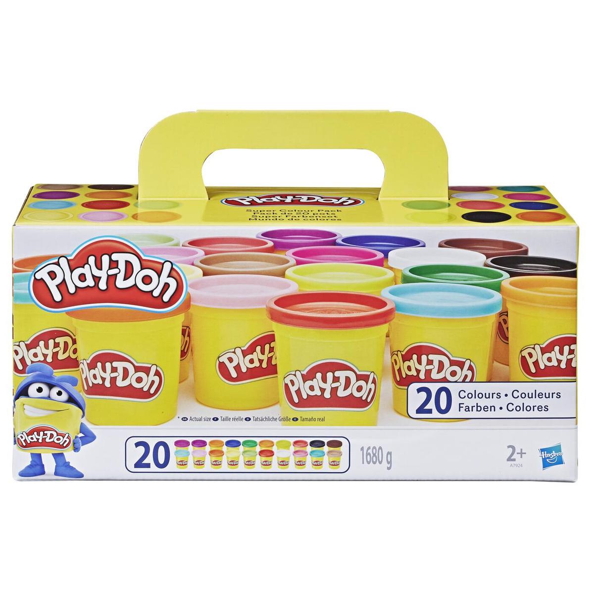 Play-Doh Пластилин Super Color Pack 20 цветов 20 баночек  #1