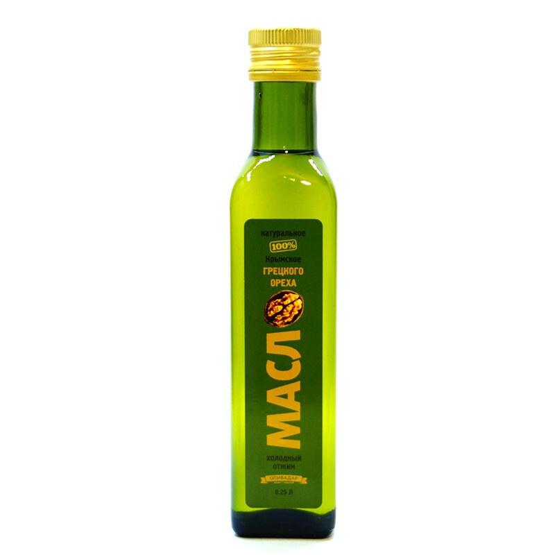 Масло  грецкого ореха Extra Virgin 100% Оливадар 0,25 л. #1