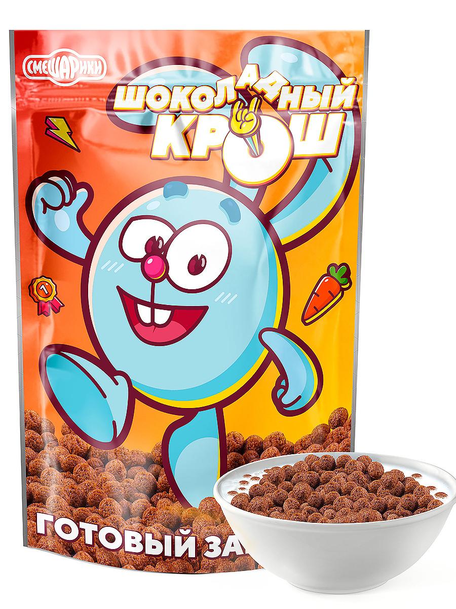 Готовый сухой завтрак шарики шоколадные Шоколадный Крош 400г, серия Смешарики  #1