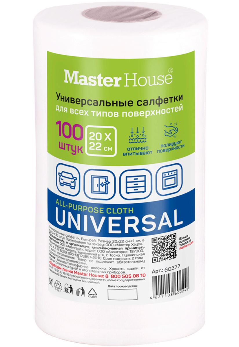 Салфетки для уборки Master House Универсальная, 20х22см, 100 шт 1 уп.  #1