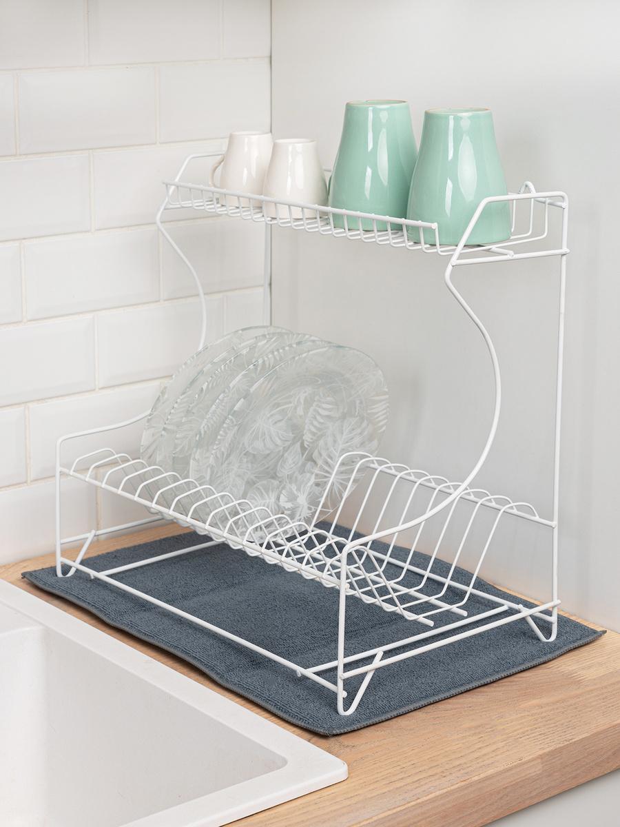 Коврик для сушки посуды Master House , 30 см х 45 см х 0.5 см, 1 шт #1