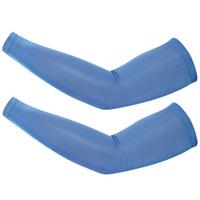 Велосипедные нарукавники из лайкры синего цвета