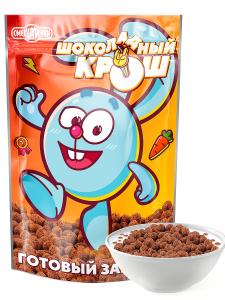 Готовый сухой завтрак шарики шоколадные Шоколадный Крош 400г, серия Смешарики. Вместе дешевле!