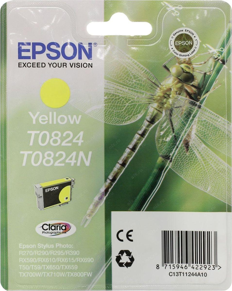 Картридж Epson для Stylus Photo R270/R290/RX590, C13T11244A10, желтый