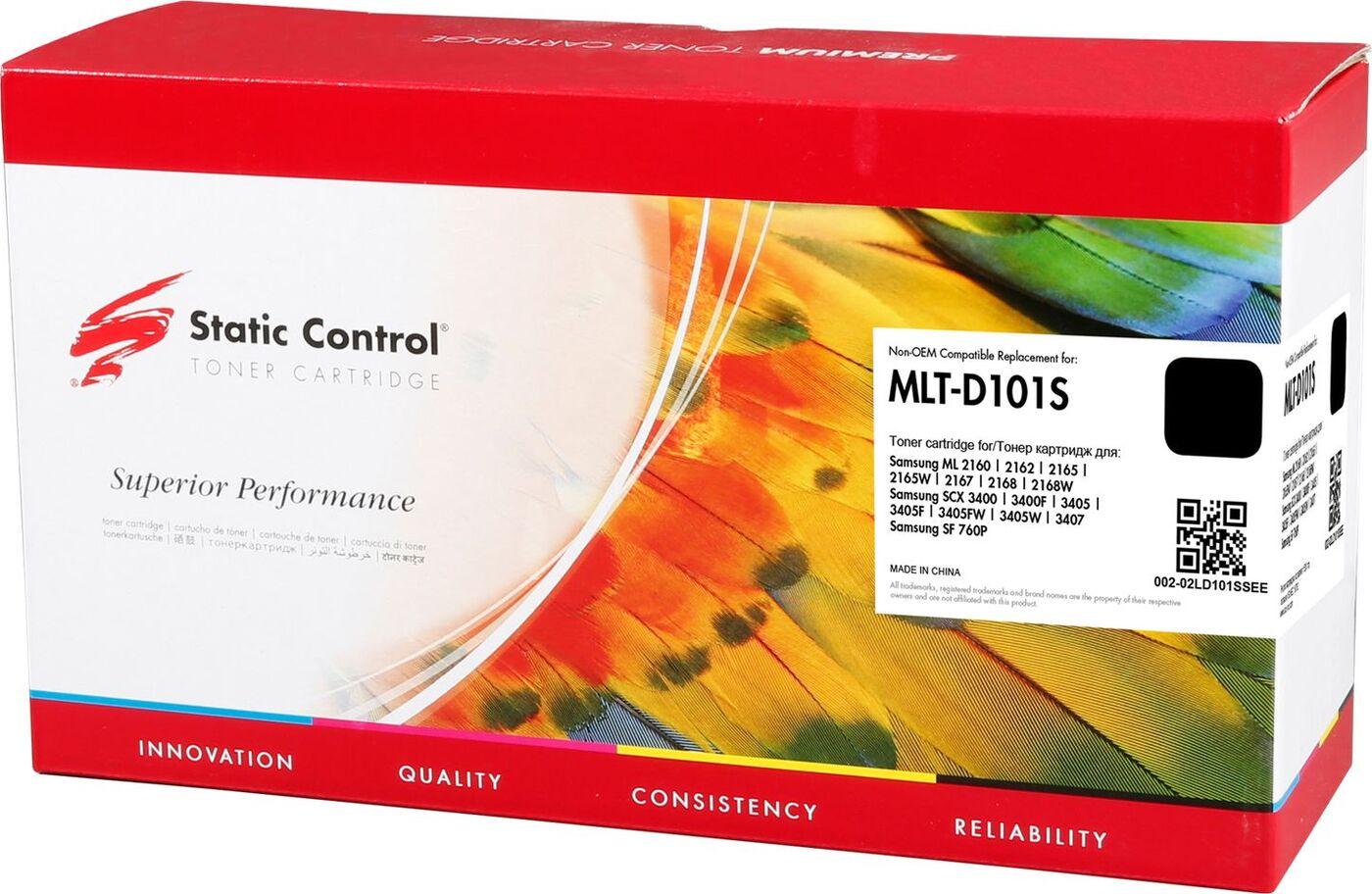 Картридж Static Control MLT-D101S, черный, для лазерного принтера