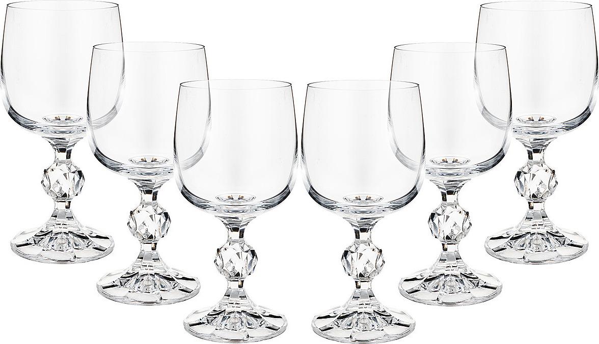 Набор бокалов для вина Bohemia Crystal Клаудия, 190 мл, 6 шт. 40149/190 набор бокалов для шампанского bohemia crystal оливия 190 мл 6 шт