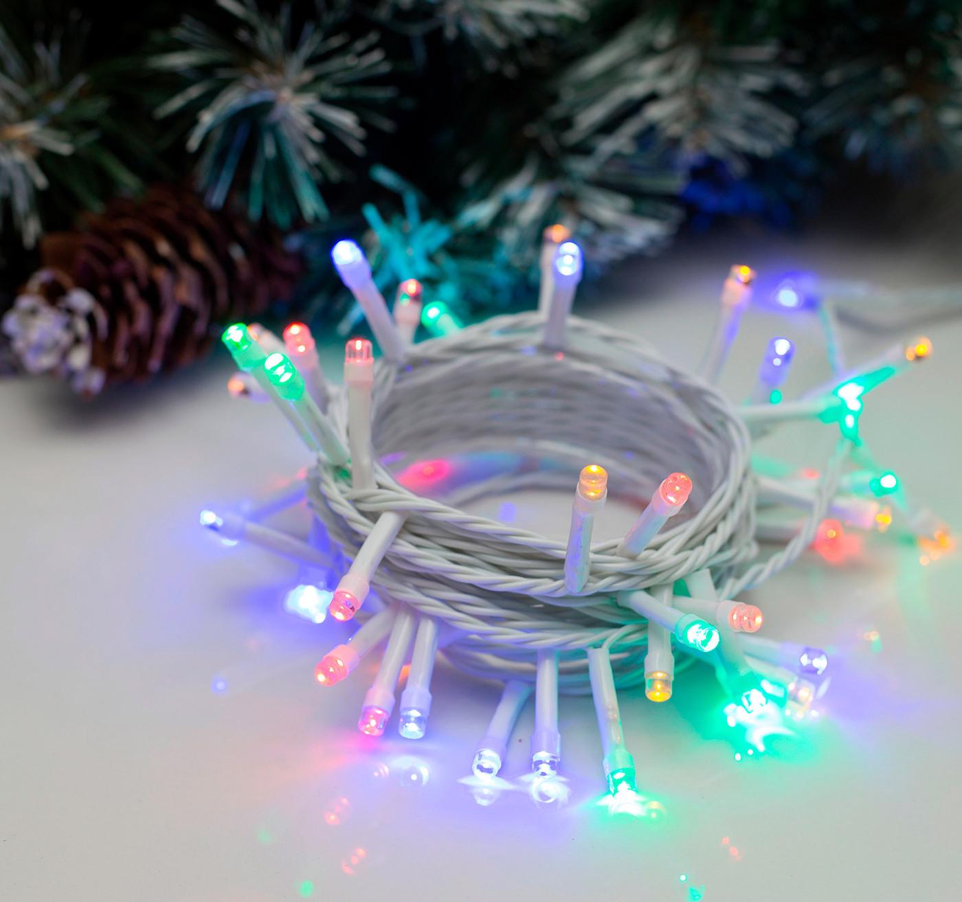 все цены на Гирлянда, 5 м, 50 LED ламп, RG/RB, 220V онлайн
