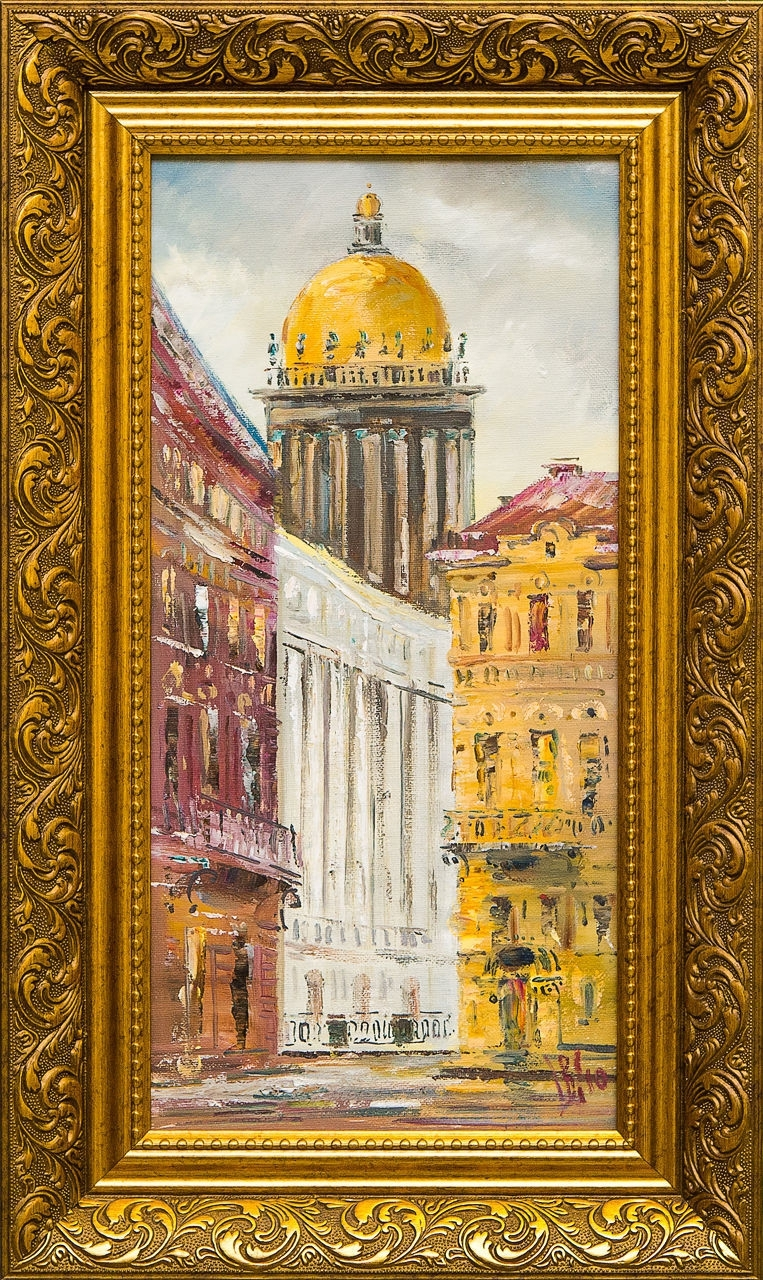 Картина маслом Город Шеренкова картина маслом шумный город шеренкова