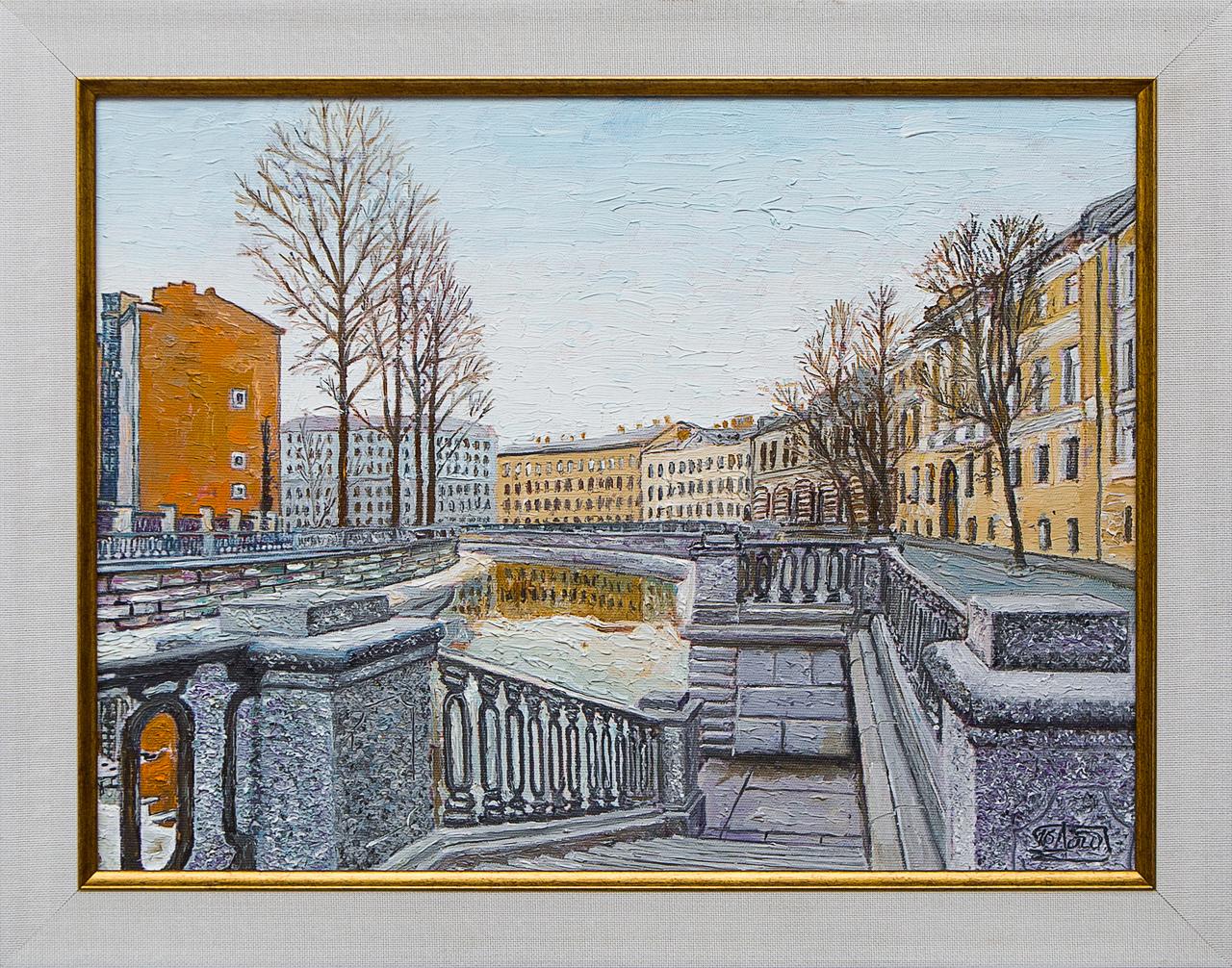 Картина маслом Канал Грибоедова Винокуров картина маслом каменный остров винокуров