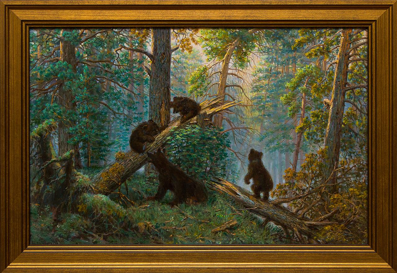 Картина маслом Утро в сосновом бору Шевченко картина шишкина утро в сосновом бору