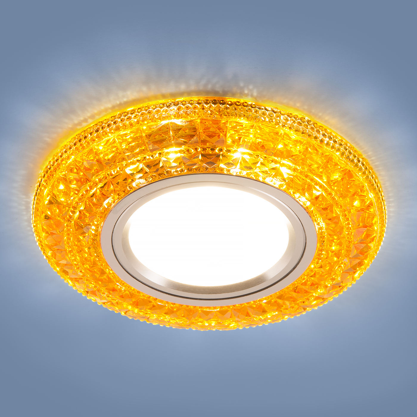 Встраиваемый светильник Elektrostandard потолочный со светодиодной подсветкой 2160 MR16 GC, G5.3