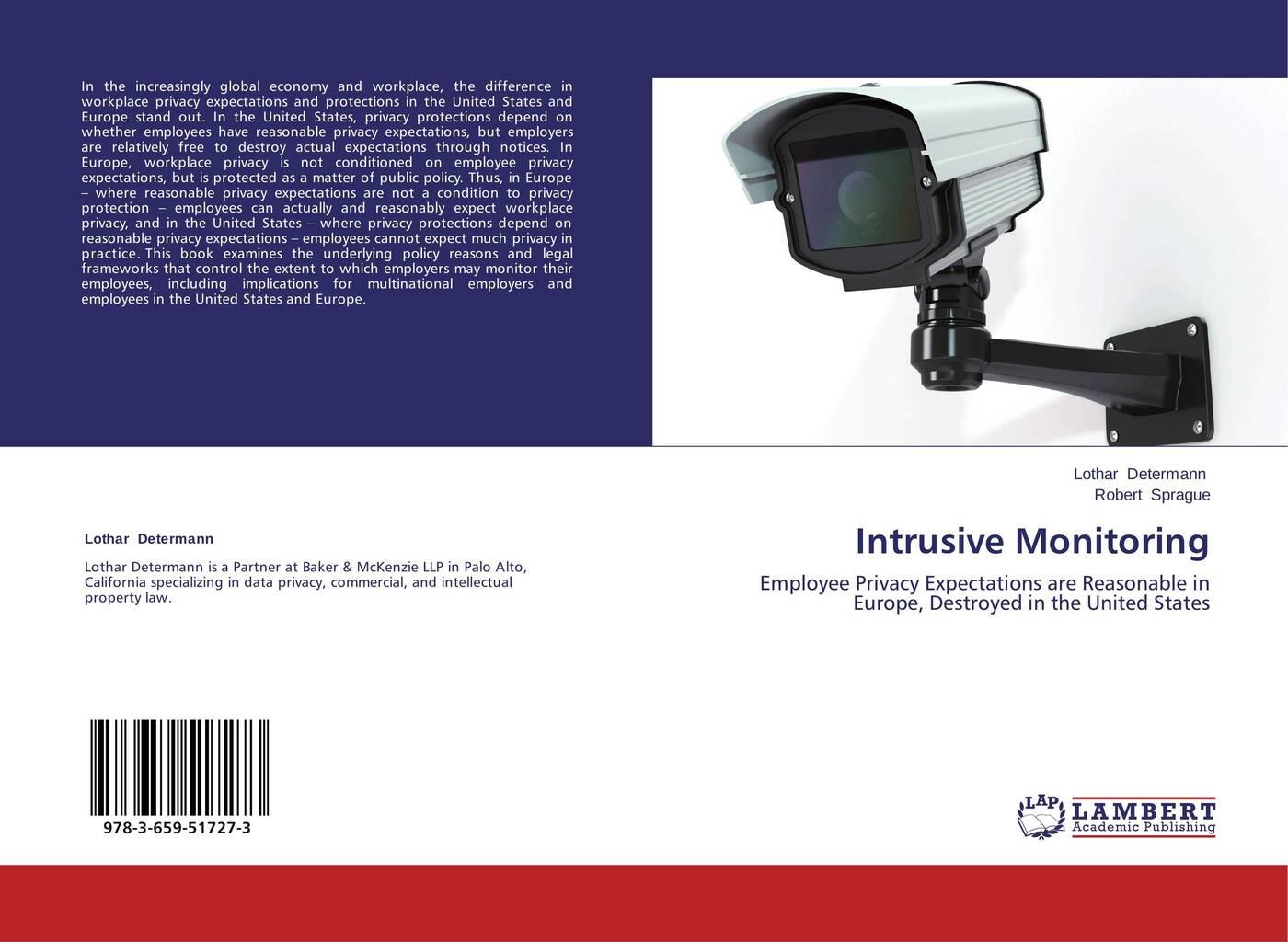 Lothar Determann and Robert Sprague Intrusive Monitoring цена в Москве и Питере